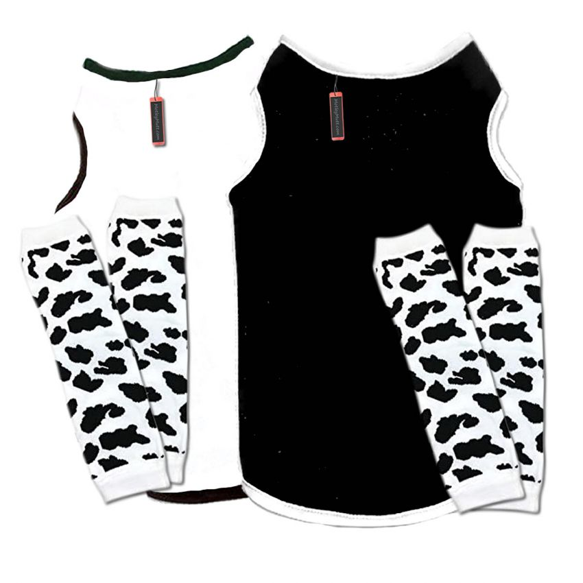 Big Dog Halloween Cow Costume Dog Outfits for Great Danes and Saint Bernards